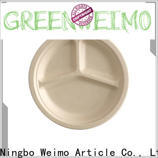 Custom bagasse plates food factory for hot food