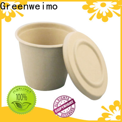 Greenweimo lid recycled paper plates and cups Supply for drinking