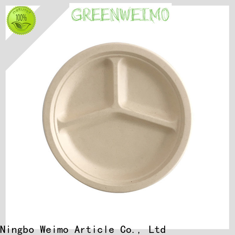 Wholesale eco friendly paper plates manufacturers bagasse factory for oily food