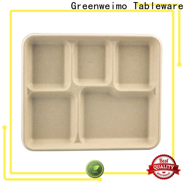 Greenweimo High-quality bagasse lunch trays for business for hot food