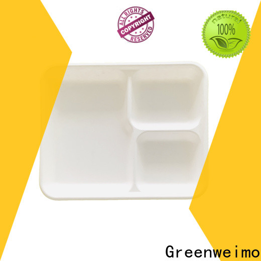 Greenweimo white green paper tray Suppliers for wet food