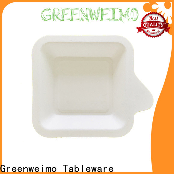 Greenweimo Custom bagasse lunch trays for business for wet food