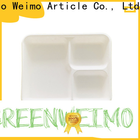 Greenweimo wheat meal tray for business for wet food
