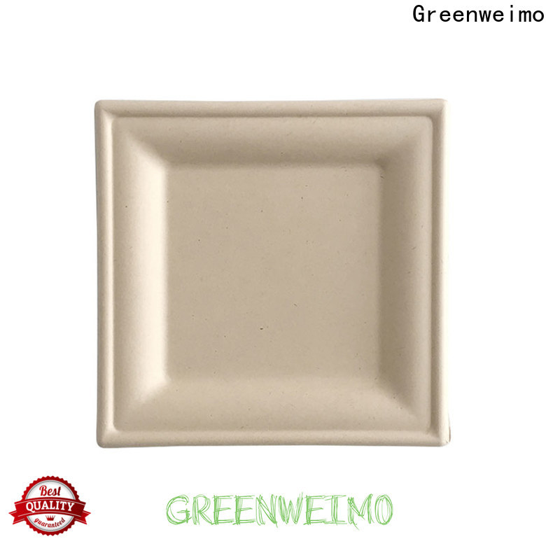 Greenweimo compartment eco paper plates Suppliers for hot food