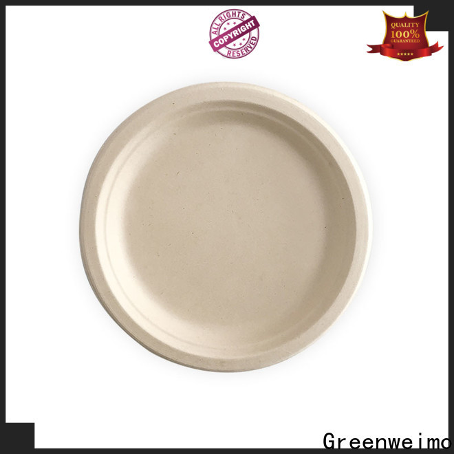 Greenweimo round recycled dinnerware factory for party
