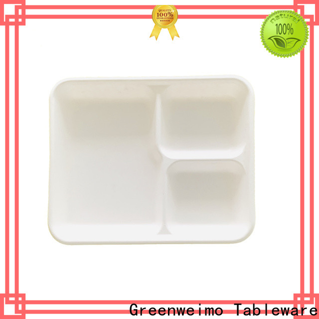 Greenweimo Wholesale bagasse lunch trays factory for hot food