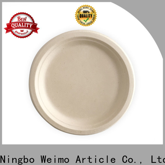 Greenweimo High-quality sugarcane disposable plates factory for oily food