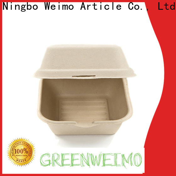 Greenweimo clamshell biodegradable to go boxes for business for delivering