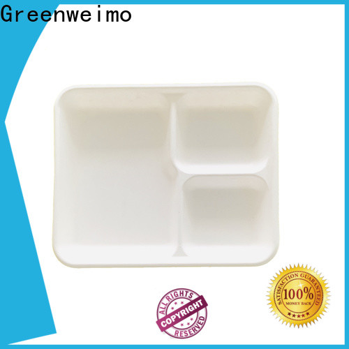 Greenweimo inch eco lunch tray for business for oily food