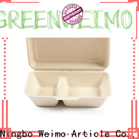 Greenweimo food biodegradable bowls with lids Supply for delivering