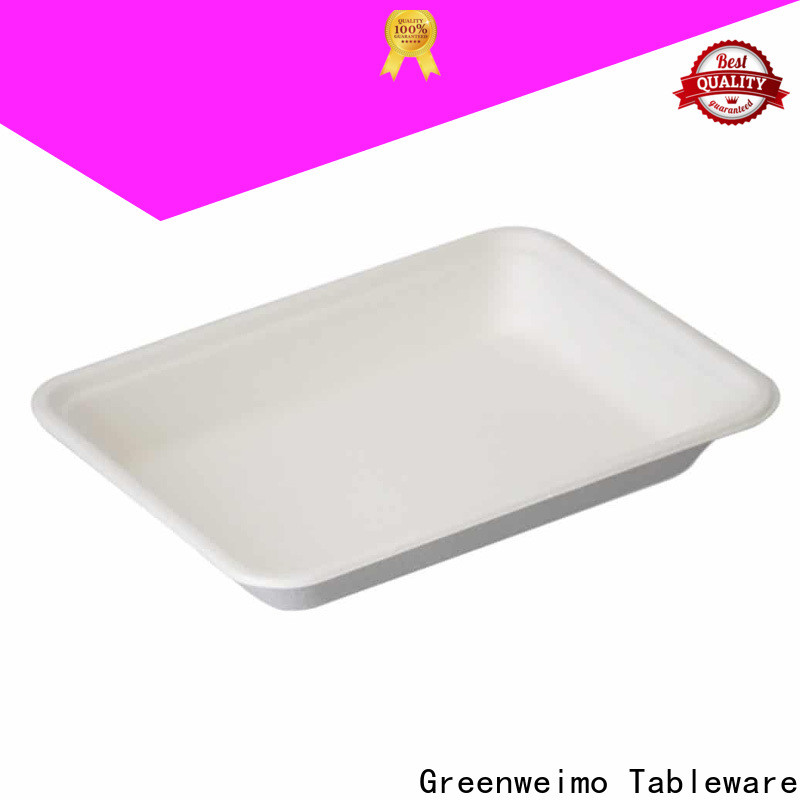 Latest green paper tray food factory for party