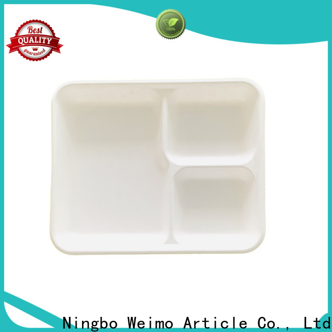 Greenweimo New recyclable plates for business for oily food