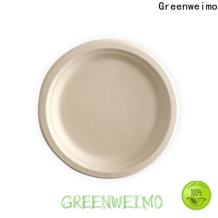 Greenweimo sugarcane bagasse plates manufacturers for party