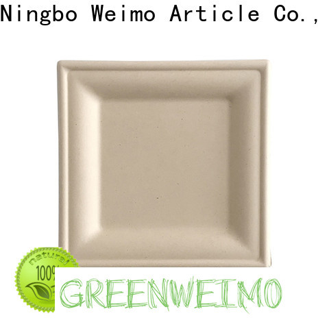 Greenweimo ellipse bagasse plates Suppliers for wet food