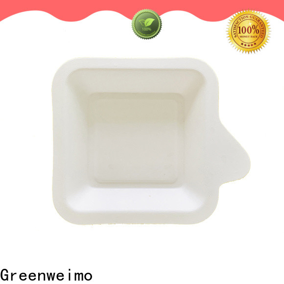 Custom green paper tray compartment for business for oily food