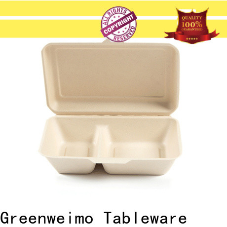 Greenweimo takeout sugarcane food containers factory for food