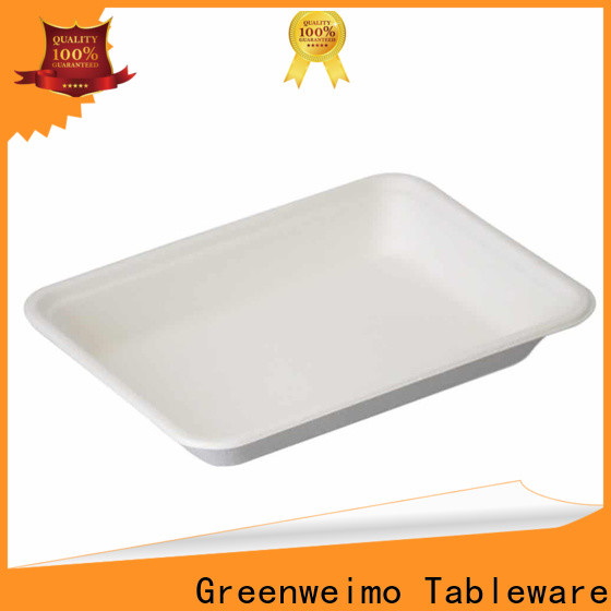 Greenweimo sugarcane food tray Suppliers for hot food