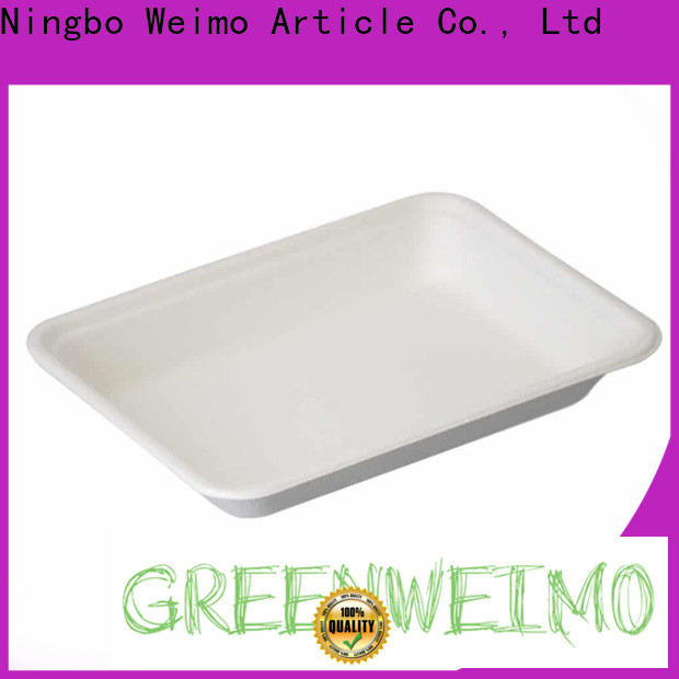 Best eco friendly food trays sugarcane company for oily food