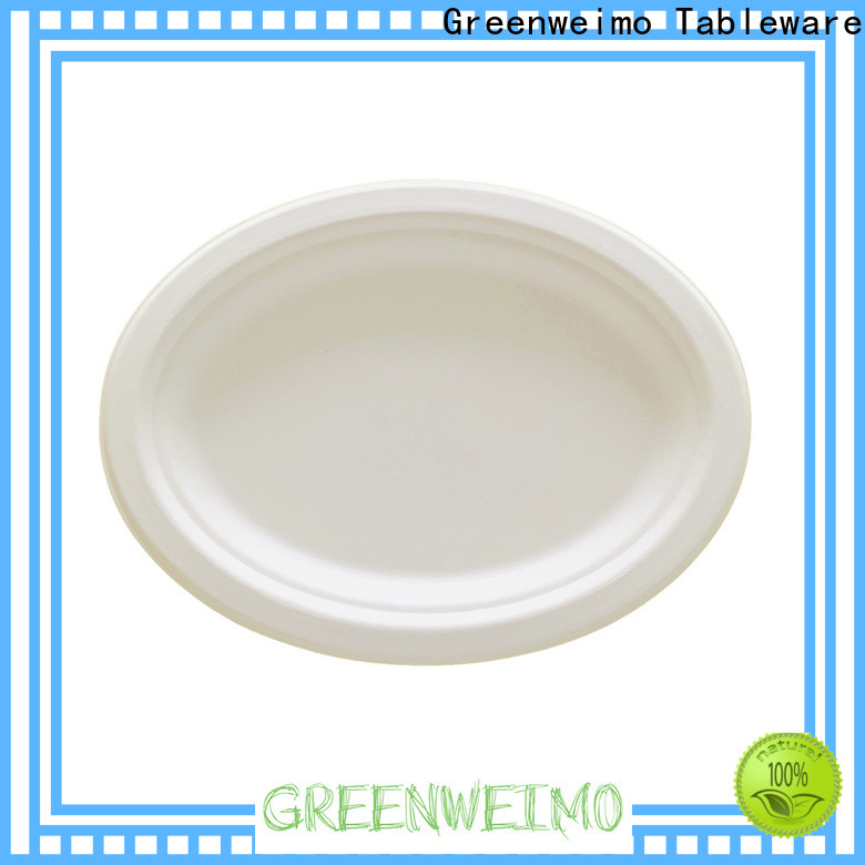 Top bagasse bowl oval factory for wet food