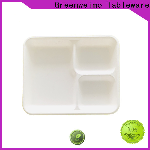 Greenweimo wheat environmentally friendly lunch trays manufacturers for hot food