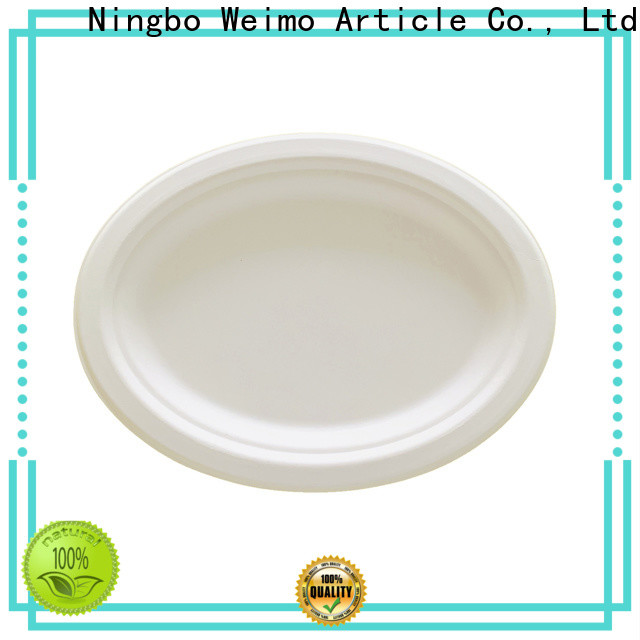 Greenweimo bagasse sugarcane paper plates factory for wet food