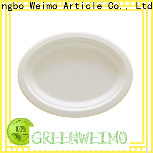 Greenweimo disposables biodegradable wedding plates Suppliers for wet food