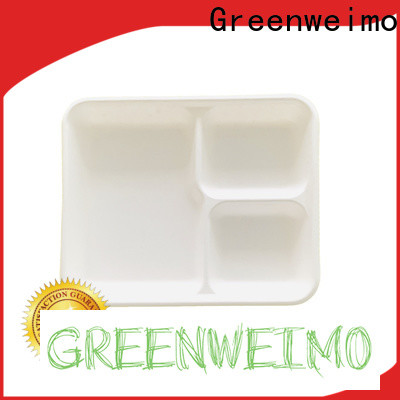 Greenweimo inch environmentally friendly lunch trays Suppliers for hot food