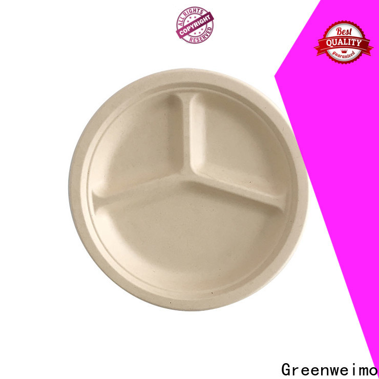 Custom eco friendly tableware bagasse Supply for oily food