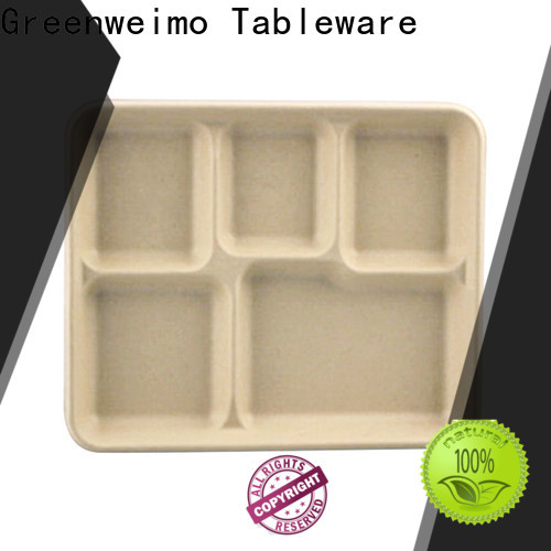 Greenweimo cake biodegradable plates manufacturers for oily food