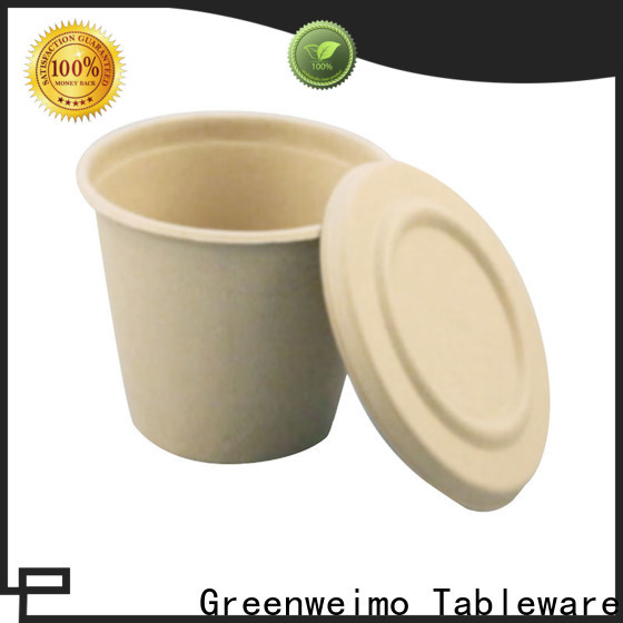 Greenweimo microwave recycled paper plates and cups factory for drinking
