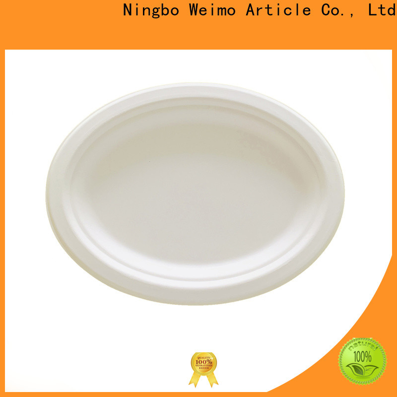 New bio disposable plates three factory for oily food