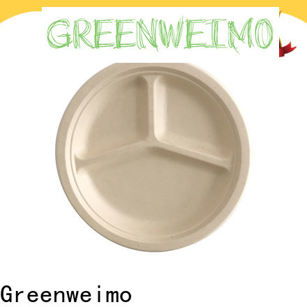 Greenweimo biodegradable eco party plates Supply for oily food