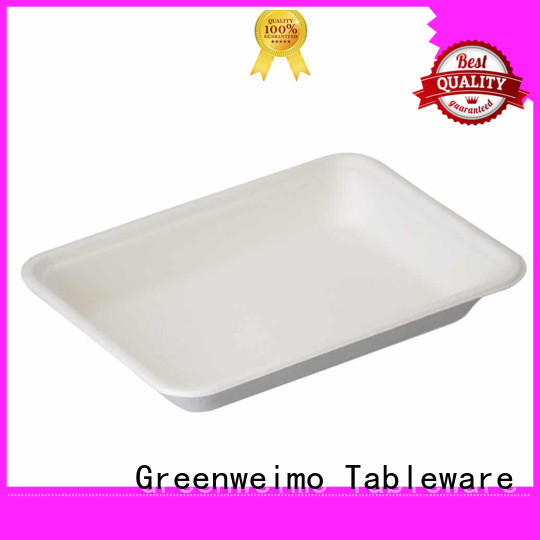 Greenweimo healthy bagasse trays available for wet food