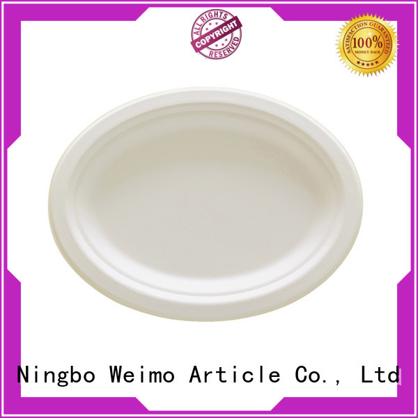 Greenweimo Wholesale eco disposable plates company for party