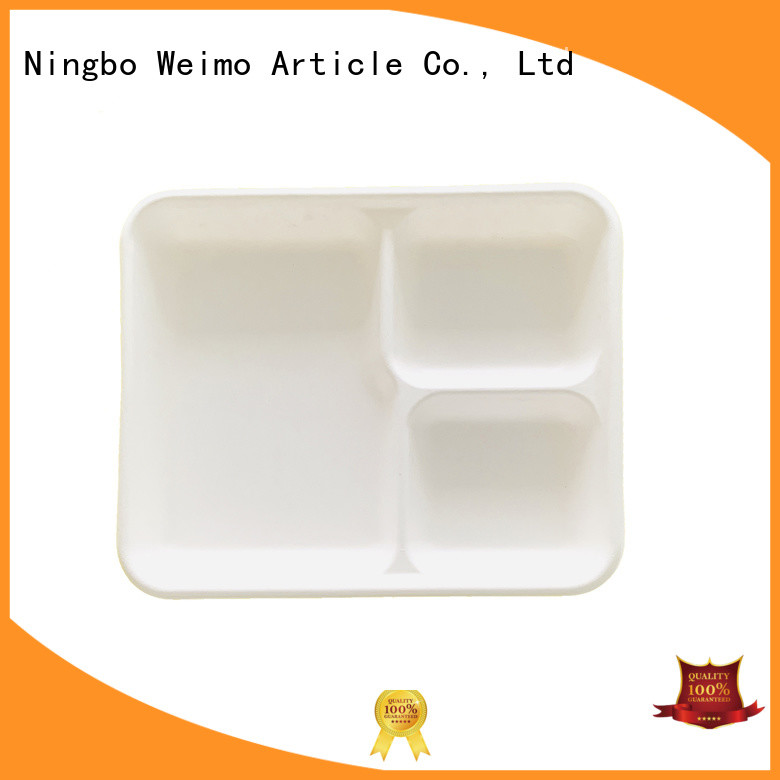Greenweimo compartment eco friendly food trays factory for wet food