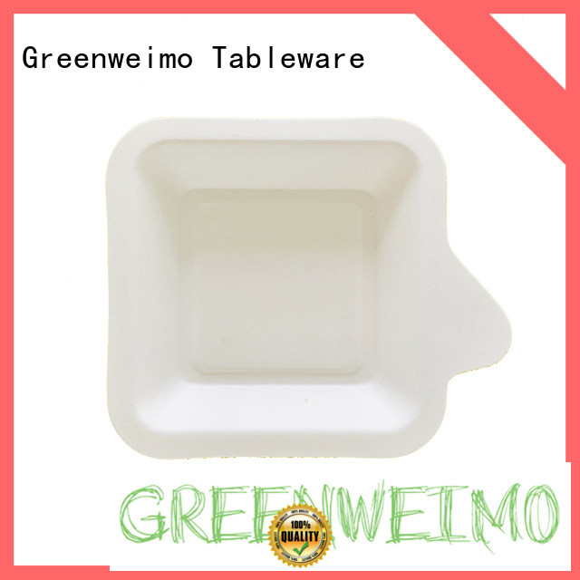 Greenweimo white green paper tray manufacturers for party