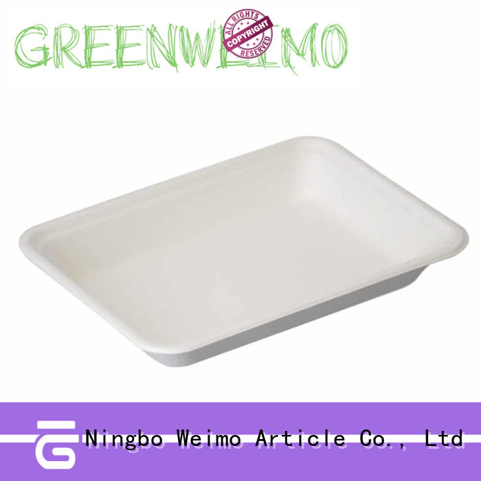 High-quality recycled paper plates compartment factory for hot food