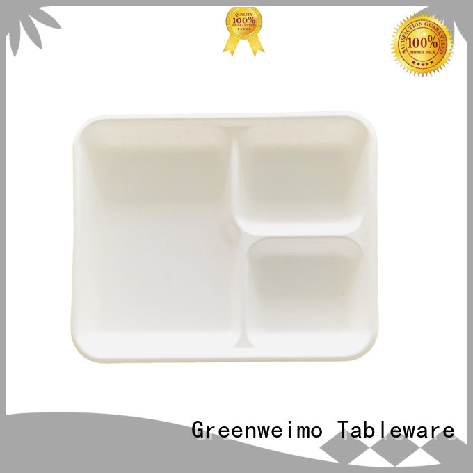 Greenweimo useful bagasse trays on sale for oily food