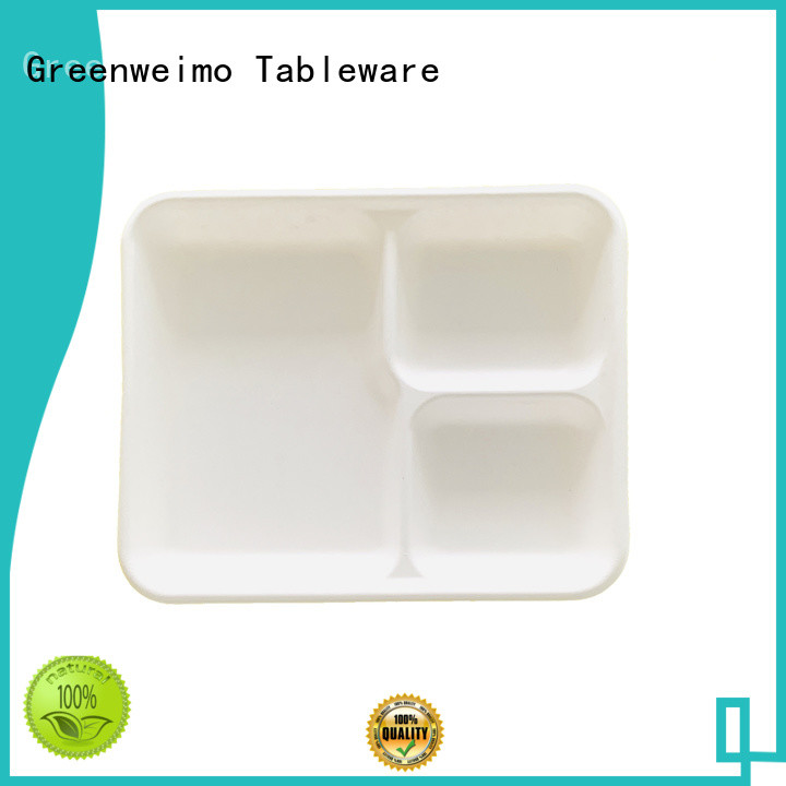 Greenweimo bagasse trays available for oily food