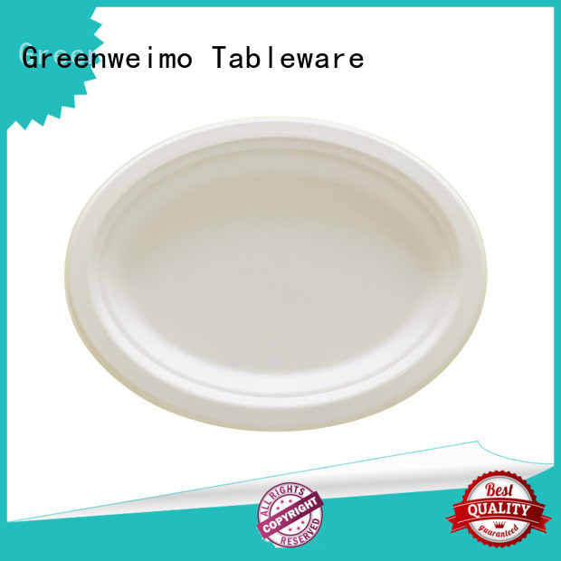 Greenweimo safe compostable plates on sale for hotel