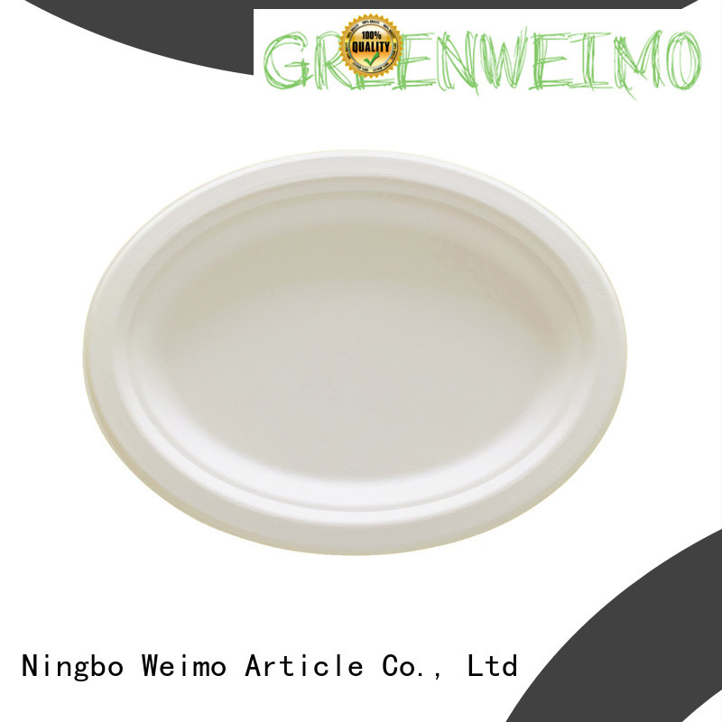 Greenweimo compartment wholesale disposable dinnerware for business for oily food