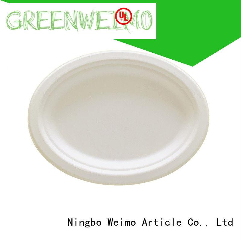 round biodegradable plate meet different market for activity Greenweimo