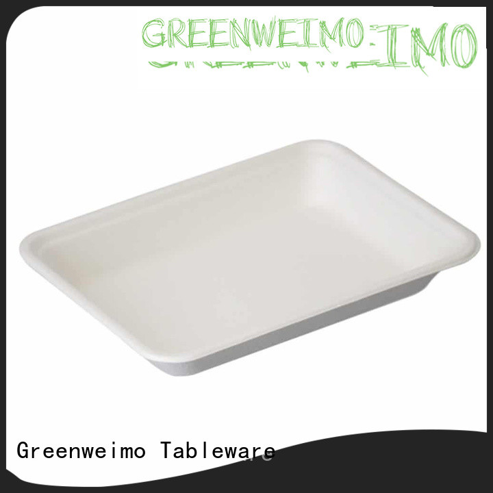 Greenweimo sugarcane sugarcane lunch trays for business for wet food