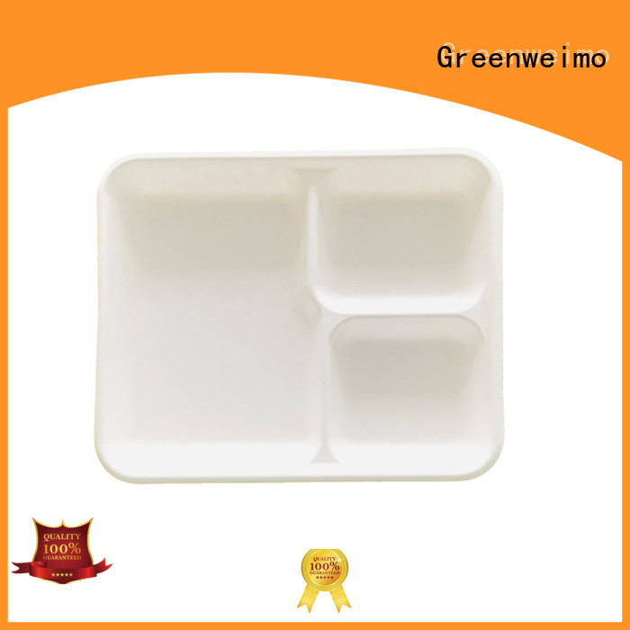 Greenweimo tray eco tableware for business for hot food
