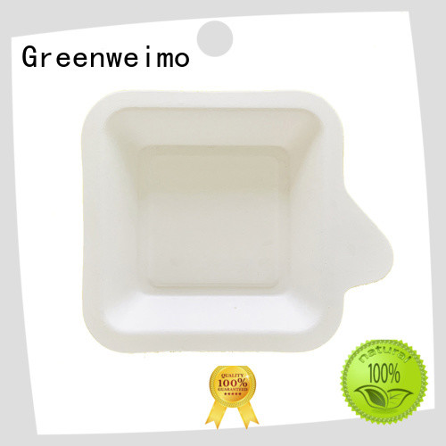Greenweimo healthy compostable trays available for hot food