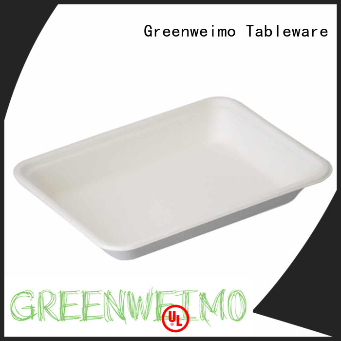 compostable trays straw for hot food Greenweimo