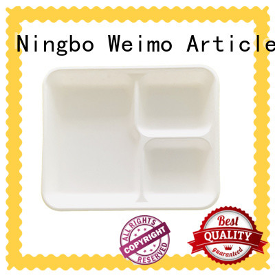 Greenweimo compartment biodegradable take out food containers Supply for wet food