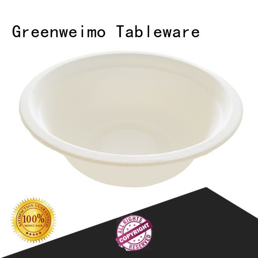 Greenweimo disposable biodegradable bowl fiber for food