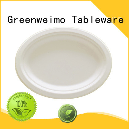 Greenweimo bagasse plate compartment for hotel