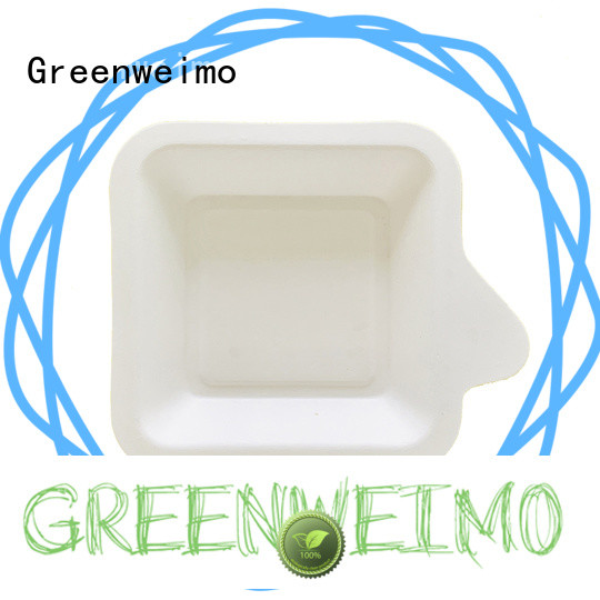 Greenweimo High-quality eco paper plates Supply for oily food